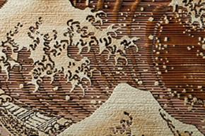 木目透かし彫り