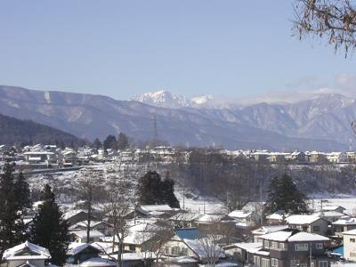 穂高連峰冬景色