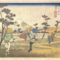 英泉・木曽海道六十九次/鴻巣 吹上富士遠望