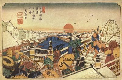 英泉浮世絵・浮世絵日本橋