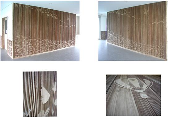 間伐材の木彫り
