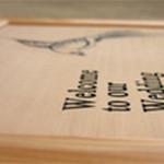 ウェディングボード・木彫り