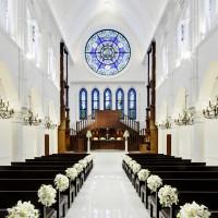 アルカンシエル luxe mariage 大阪のチャペル内