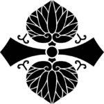 家紋・変わり剣二つ葵