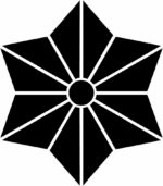 家紋・六枚麻の葉桔梗