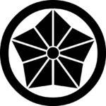 家紋・丸に麻の葉桔梗
