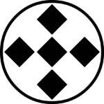 家紋・糸輪に五つ石