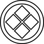家紋・総陰丸に隅立て四つ石