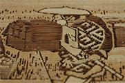 透かし彫り・東海道五十三次「原の宿」拡大2