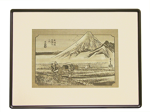 透かし彫り・東海道五十三次「原の宿」