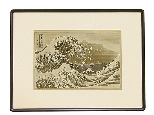 透かし彫り・北斎神奈川沖浪裏
