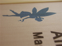 木彫りウェディングボード・愛を込めて拡大2