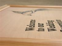 木彫りウェルカムボード