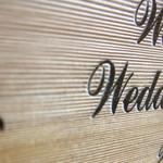 木彫りウェルカムボード・シルエット拡大